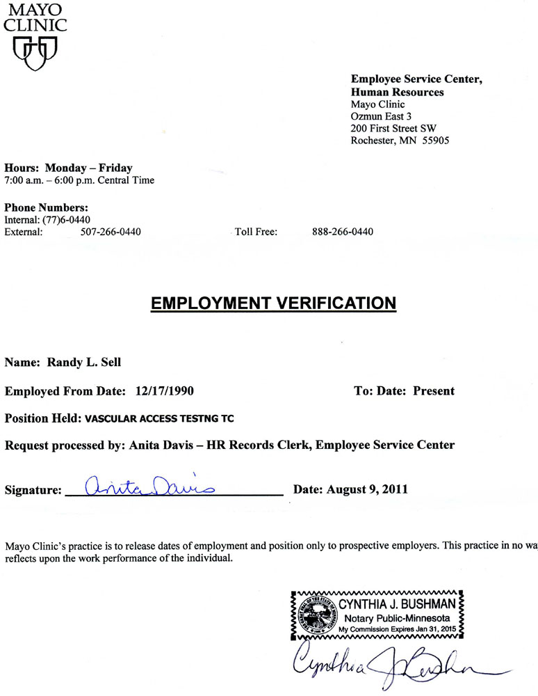 Employment Proof Letter  Proof Of Employment Letters Verification